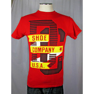 DC Shoe Red Graphic Short Sleeve Cotton Shirt